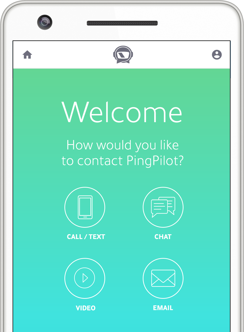 Signal Contact Engagement, Call, Text, Chat, Video Call, and Email.